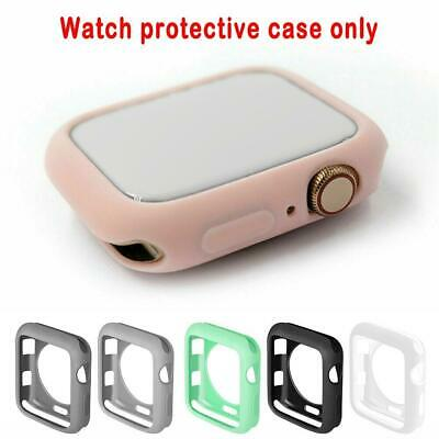 $ CDN3.69 • Buy For Apple Watch Series1/2/3/4/5/6 Silicone Bumper Case Cover Protector Shockproo