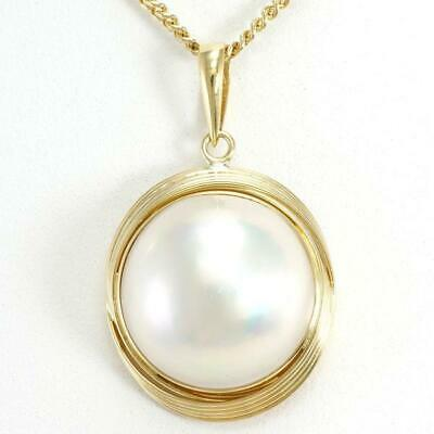 $598 • Buy Jewelry 18K Yellow Gold Necklace Mabe Pearl About9.3g Free Shipping Used