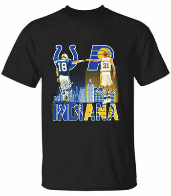 $24.99 • Buy Indiana Pacers Indianapolis Colts Peyton Manning Reggie Miller T Shirt S 5xl Gif