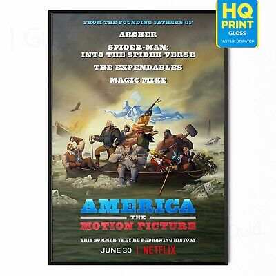 £4.99 • Buy America The Motion Picture Movie Channing Tatum 2021 Poster   A5 A4 A3 A2 A1  