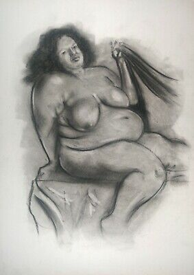 £3.01 • Buy Magnificent Nude Big Beautiful Woman BBW On White Paper A3
