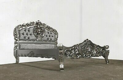 £579 • Buy Rococo Kingsize Rococo Bed  Silver Hand Made Brand New