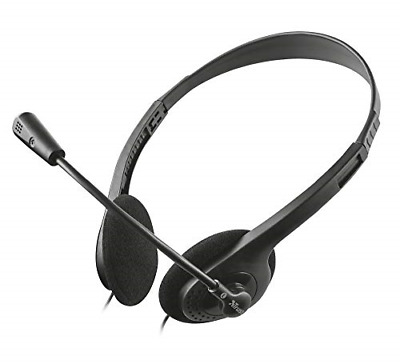 £12.06 • Buy Trust Chat Headset With Microphone For PC And Laptop, Skype Headset With 3.5 Mm