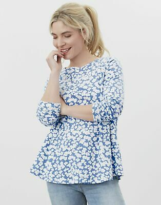 £12.50 • Buy Joules Womens Harbour Light Swing Long Sleeve Jersey Top - Blue Floral - 18