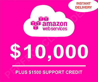 $ CDN2245.70 • Buy  AWS - Amazon Web Services $10,000 Credits On Pre-Approved Account