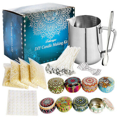 £21.49 • Buy 67pcs Candle Making Kit DIY Craft Set For Starter With Soy Wax Candle Tin Wicks