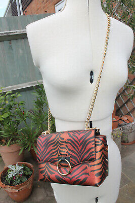 £3.99 • Buy Tiger Effect Bag With Chain Handle By Skinny Dip