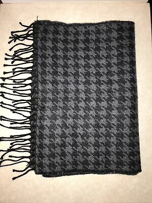 £7.99 • Buy M&S Mens Scarf, Dark Grey And Black Houndstooth  Brand New With Tags