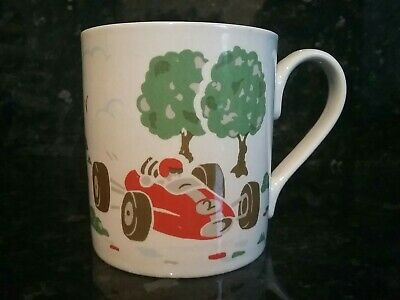 £3 • Buy Cath Kidston -White Mug With Red &Blue Racer Cars By Churchill Fine China