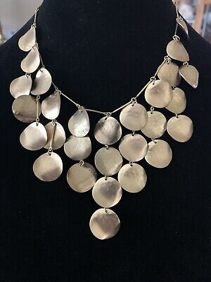 """£10.58 • Buy Fashion Necklace Dangle 19"""" Statement Gold Tone Round Coin"""