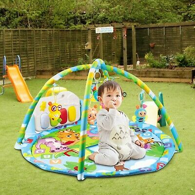 £27.99 • Buy 3-in-1 Baby Gym Floor Play Mat Musical Activity Center Kick And Play Piano Toy