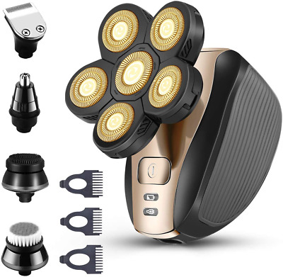 $53.86 • Buy Upgrade 5-in-1 Electric Shaver And Freedom Grooming Kit For Bald Head Men NEW