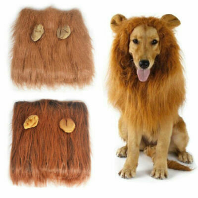 £6.99 • Buy Pet Clothes Christmas Dog Costumes Fancy Dress Up Lion Mane Wig For Large Dogs