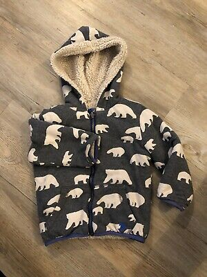 £3 • Buy Baby Boden Shaggy Lined Polar Bear Hoodie 2-3 Years