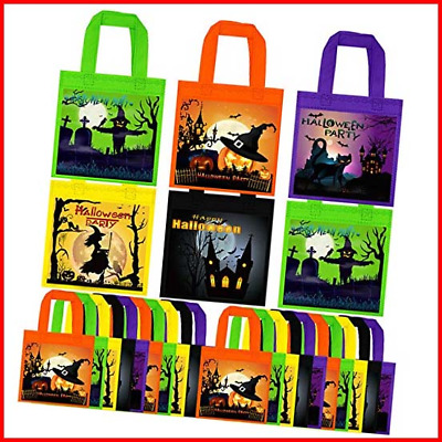 £10.41 • Buy Cooraby 25 Packs Non-woven Bags Halloween Tote Bags Gift Tote Bag Trick Or Treat