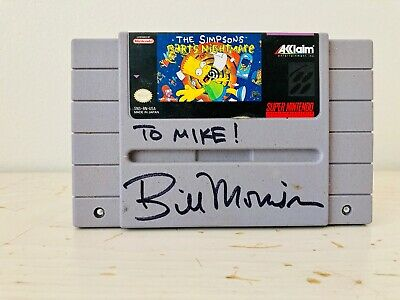 £7.24 • Buy The Simpsons Barts Nightmare SNES Video Game Signed By Bill Morrison