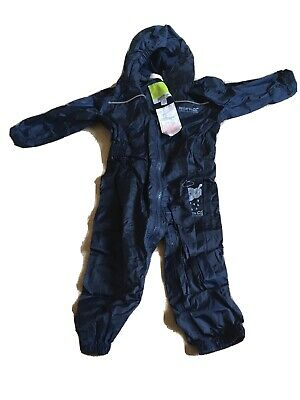 £10 • Buy Regatta Child Puddle Rain Waterproof Breathable All In One Suit 12-18 Months
