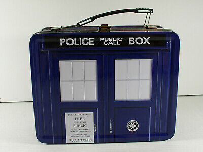 £7.16 • Buy Doctor Who Police Box Tardis Tin Tote Lunchbox 2009 Collectible BBC