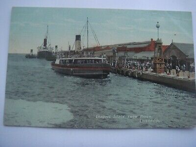 £2.99 • Buy Lancashire  Landing Stage From River Liverpool  Steamer Or Ferry Posted 1911
