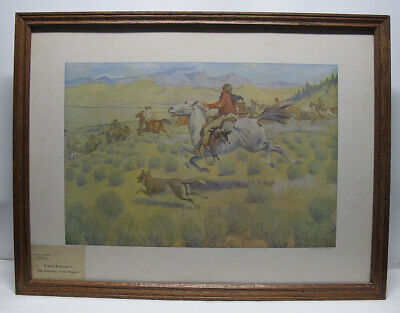 $ CDN1.20 • Buy Antique 1904 Frederic Remington Artist's Proof The Gathering Of The Trappers Yqz