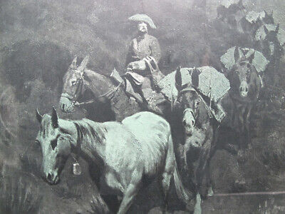 $ CDN1.20 • Buy Antique 1903 Frederic Remington Artist's Proof The Bell Mare Yqz