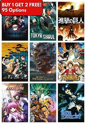 £6 • Buy Best Classic Anime Series Ever Manga Poster A4 A3 Art Print BUY1GET2FREE