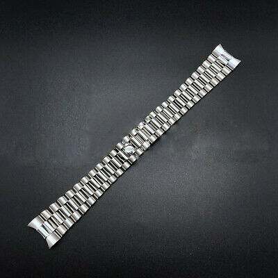 $ CDN24.76 • Buy 20mm Solid President Silver Watch Band Bracelet For Rolex Datejust Heavy Link