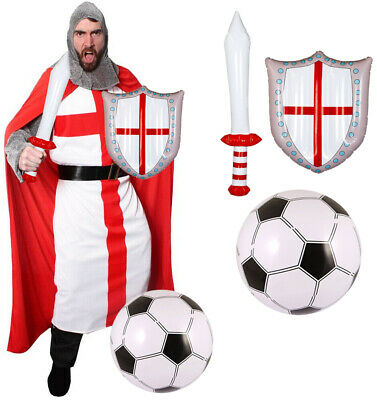 £36.99 • Buy England Knight Costume Fancy Dress Euro 2021football Mens St George Outfit