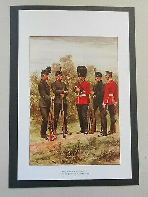 £1.65 • Buy  Military Print- London Regiment City Of London Battalions  By R Caton Woodville
