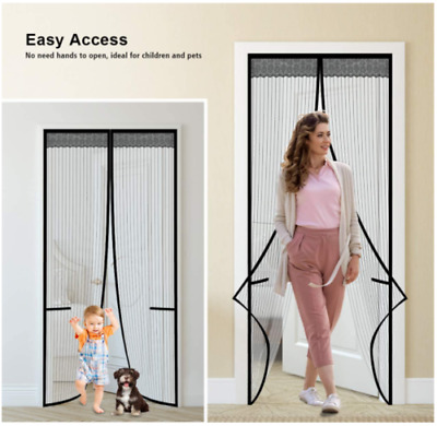 £5.99 • Buy Magic Curtain Door Mesh Magnetic Fastening Mosquito Fly Bug Insect Net Screen
