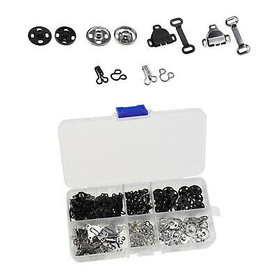 £10.21 • Buy 150 Sets 3 Styles Sewing Hooks With Eye Fasteners Snaps For Trousers Skirt Bra