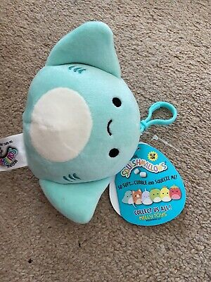 """$ CDN11.15 • Buy Squishmallow Bag Clip-On/Keyring - Maggie The Stingray 3.5"""" - New With Tags"""