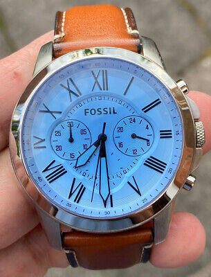 View Details Mens  Fossil Fs-5184 Leather  Strap  Watch Fully Running Very Nice Order • 39.99£