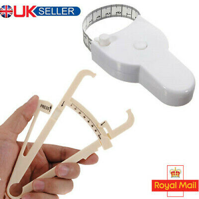 £2.69 • Buy Body Fat Tester Calipers For Weight Loss Fitness Health Charts Manual Diet GXG