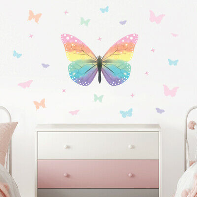£14.95 • Buy Butterfly Wall Stickers, Wall Decals Collection, Rainbow Butterfly Bfly.2