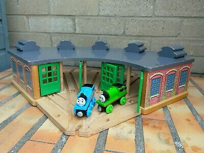 £25 • Buy Thomas Wooden Railway Tidmouth Sheds & Track Splitter, With Thomas And Percy