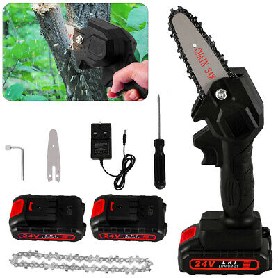 £38.98 • Buy Electric Cordless Chainsaw Garden Chain Saw 550W Cutting Tools With 2 Battery