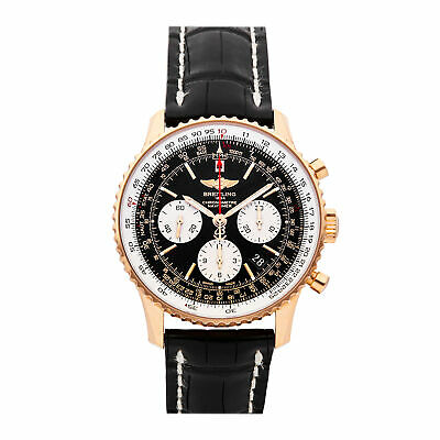 £11223.38 • Buy Breitling Navitimer 01 Chronograph Auto 43mm Gold Mens Watch Date RB012012/BA49
