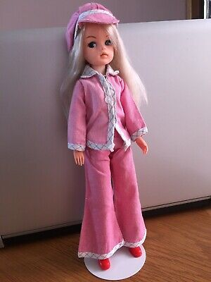 £9.50 • Buy 1984 Sindy Doll Wearing Smarty Denims On Kaiser Doll Stand.