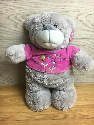 £9.99 • Buy Cuddles Collection Best Friend Grey Teddy Bear With Pink Jumper 12  Tall