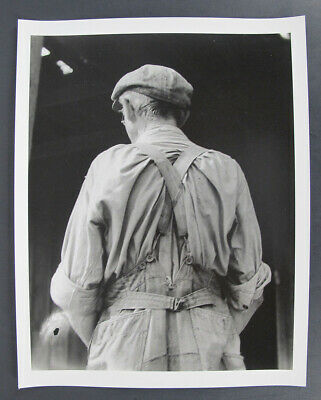 $ CDN1.20 • Buy Vintage DOROTHEA LANGE Attributed Photograph Dust Bowl Man's Back Overalls Yqz