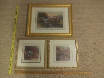 £70.76 • Buy Thomas Kinkade Accent Print Series-Three Matted And Framed Prints