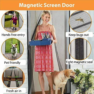 £8.99 • Buy Magic Curtain Door Mesh Magnetic Fastening Mosquito Fly Bug Insect Net Screen UK