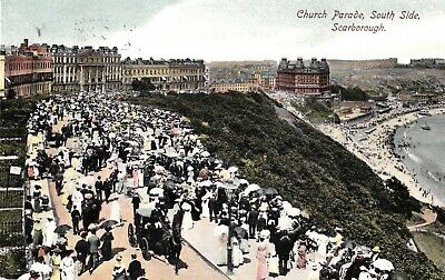 £1.45 • Buy 1905 Postcard: Church Parade, South Side, Scarborough, North Yorkshire