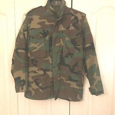 $29.60 • Buy US Army M-65 Field Jacket Size X-Small Short BDU Woodland Camo Cold Weather