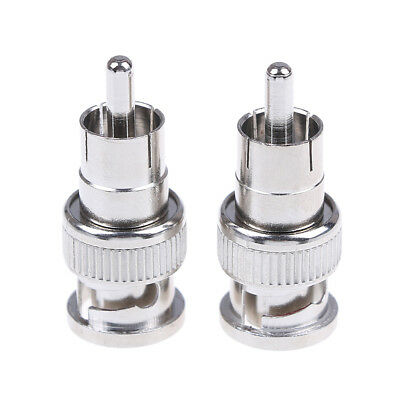 $ CDN2.17 • Buy 2Pcs BNC Male To RCA Male Coax Connector Adapter Cable Coupler For Cctv CameAH2