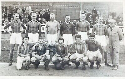 £4 • Buy Unknown Football Team. Vintage Photographic Postcard
