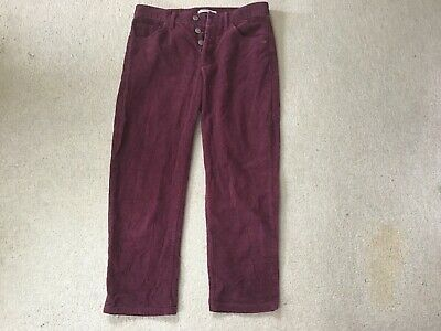 £4.99 • Buy Pull And Bear Burgundy Cord Jeans Button Fly European Size 40 (approx 12 UK)