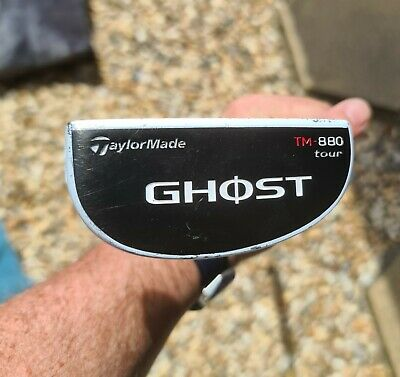 """£15 • Buy TaylorMade Ghost TM-880 Tour 33"""" Putter  Right-Handed Steel  With  Head Cover"""