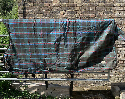 £49.99 • Buy 6ft9 Fal Pro 200g Thick Medium Weight Stable Rug High Half Neck Red Green Check